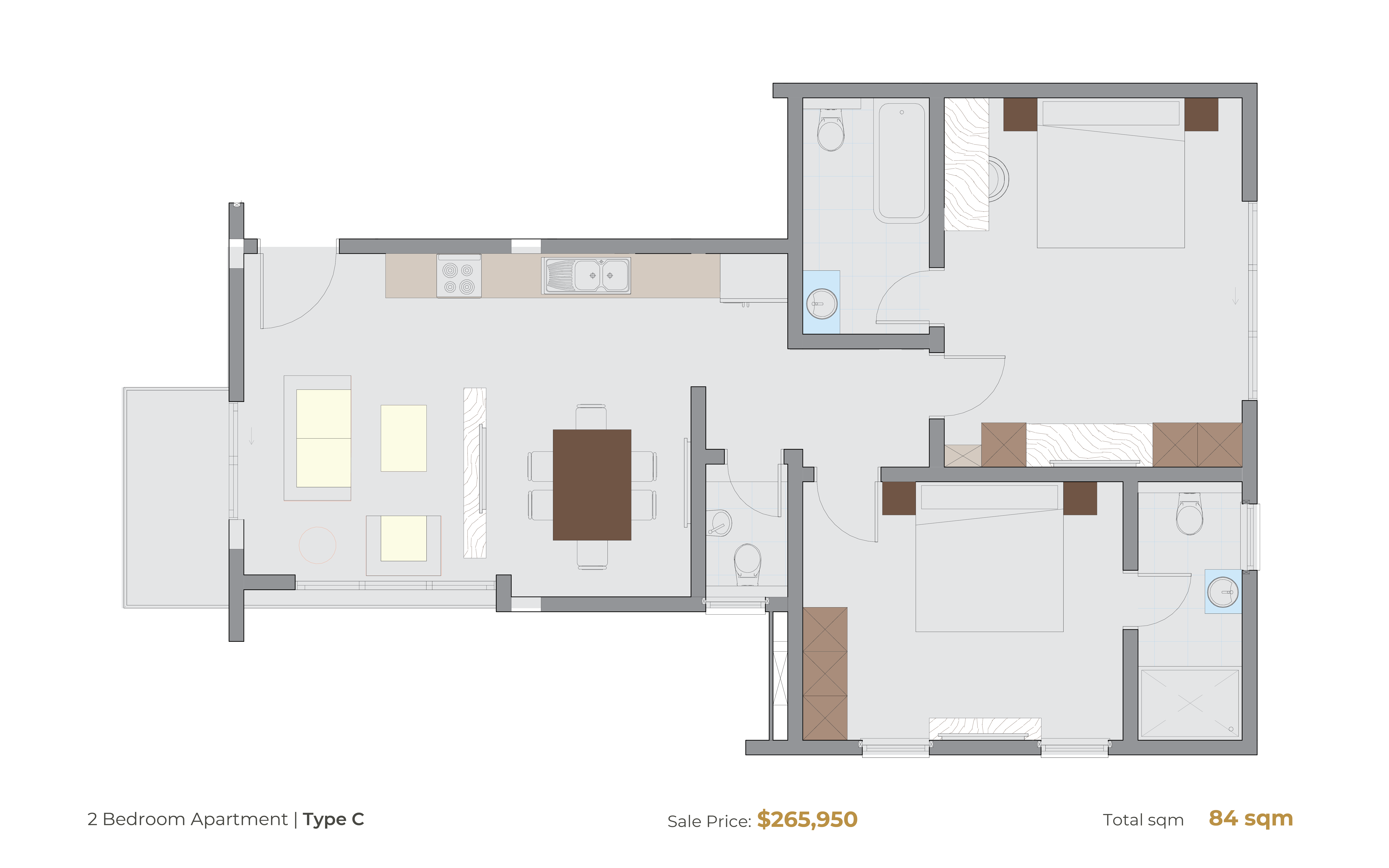 2 Bedroom Type C [Hammond Court]-01